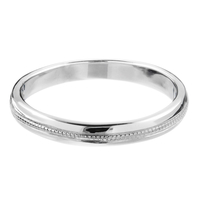 Platinum Milgrained Wedding Band