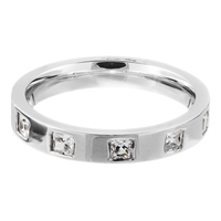 18ct White Gold Diamond Band.