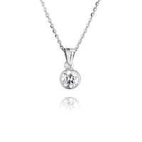 Sterling Silver rubover set pendant and chain
