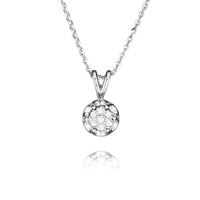 Sterling Silver Art Deco Pendant and chain