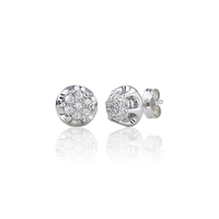 Antique Style Cluster Stud Earrings