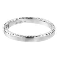 Platinum Rope Sided Wedding Ring