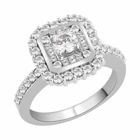 Diamond Claw Set Cluster Engagement ring