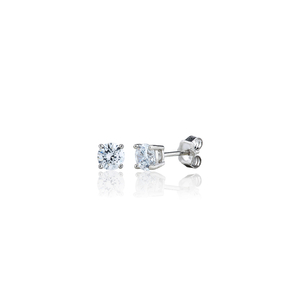 Sterling Silver 1ct Swarovski Stud Earrings