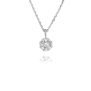 Sterling Silver cluster pendant and chain