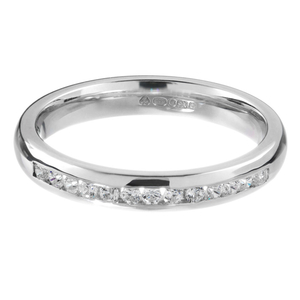 Diamond Channel Set Wedding Ring 0.18ct