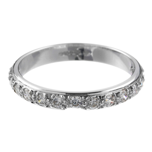 18ct White Gold Diamond Wedding Ring.